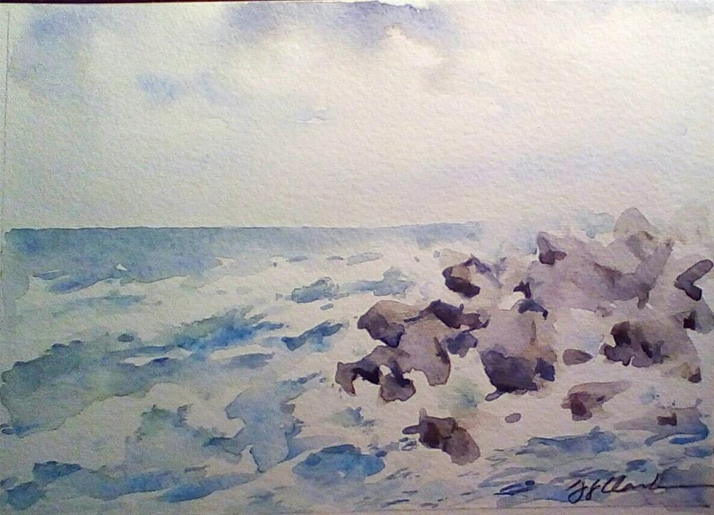 """Storm over Rapallo, study"" original fine art by Judith Freeman Clark"