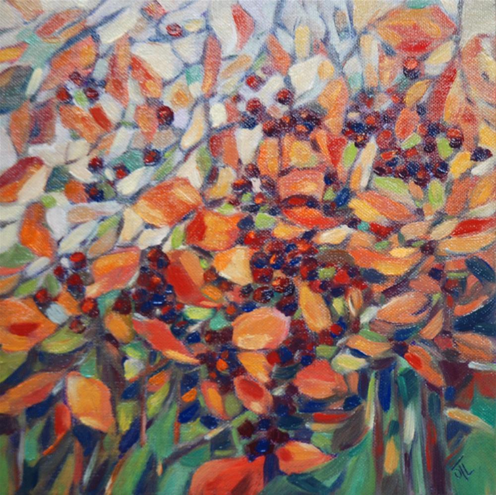 """""""Autumn berries"""" original fine art by Olga Touboltseva-Lefort"""