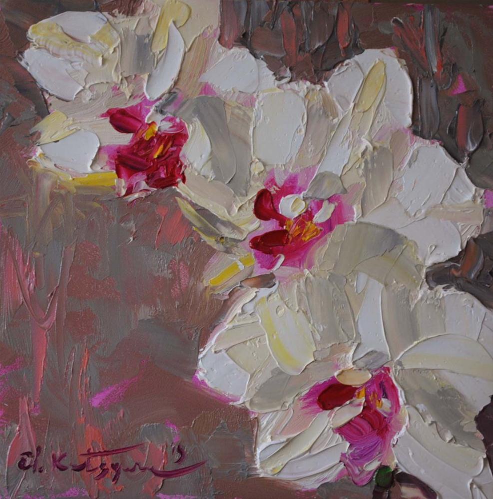 """Orchid 2"" original fine art by Elena Katsyura"