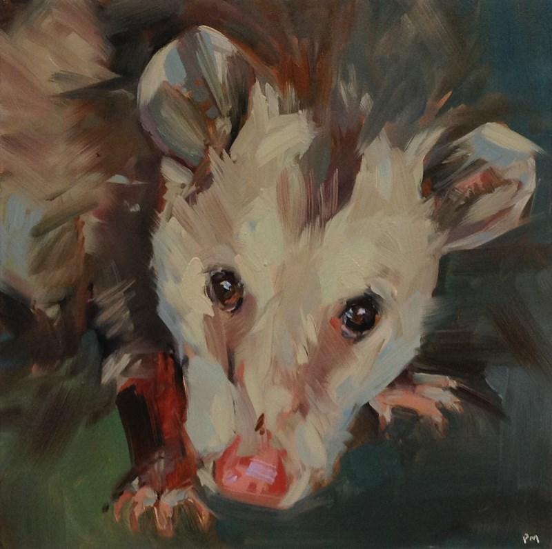 """O is for Opossom"" original fine art by Patti McNutt"