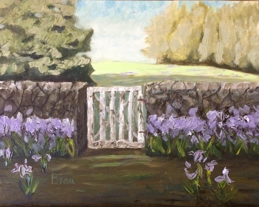 """Rock fence"" original fine art by Beau Crump"