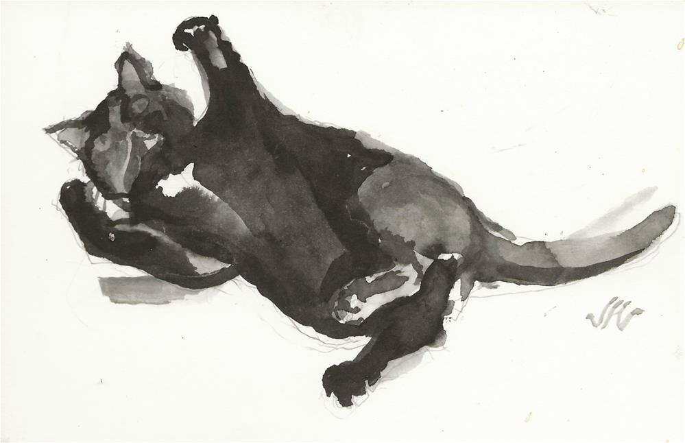 """Daily Cat 156"" original fine art by Jean Krueger"