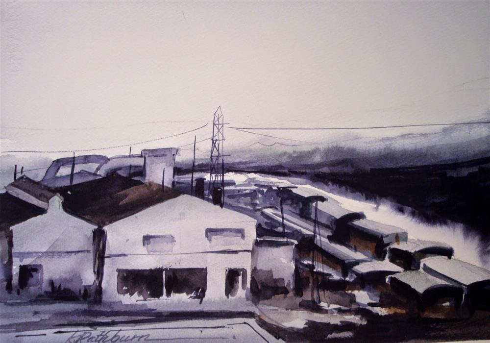 """More Mill Shaoes"" original fine art by Kathy Los-Rathburn"
