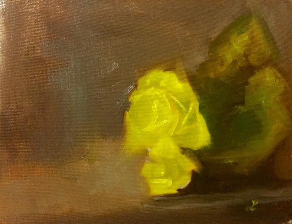 """""""My Mother's Begonias"""" original fine art by Lori Jacobs - Farist"""
