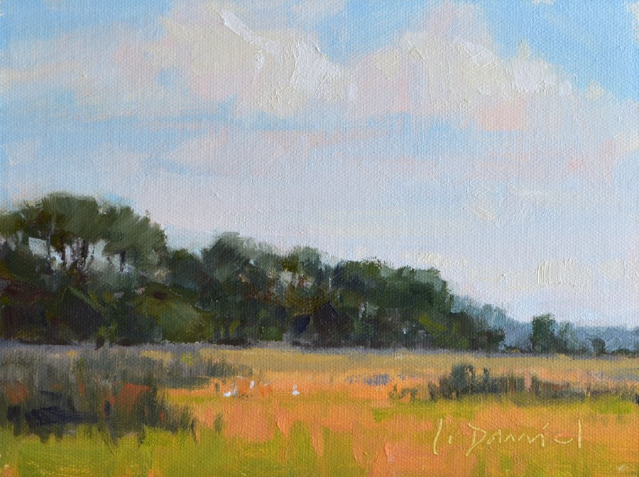 """""""Summer's End and Two New Grand-babies!"""" original fine art by Laurel Daniel"""