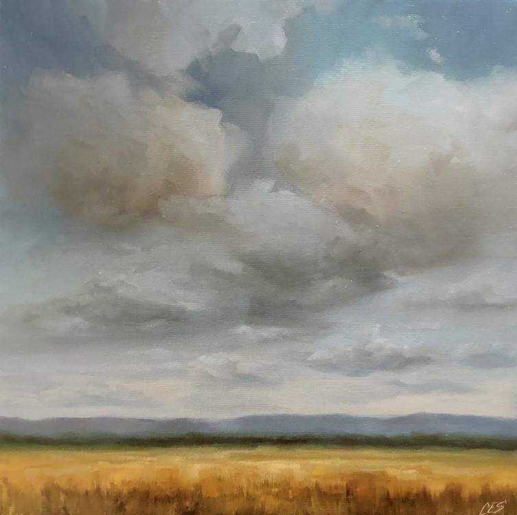 """""""Blue Sky Happy"""" original fine art by Christine E. S. Code"""