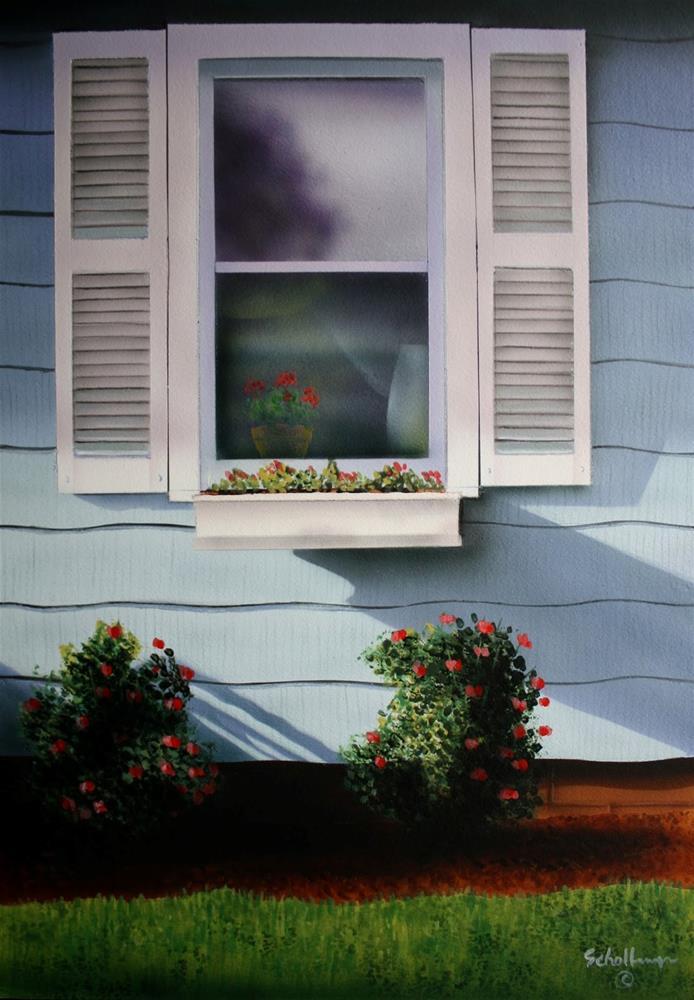 """Rose Window"" original fine art by Fred Schollmeyer"