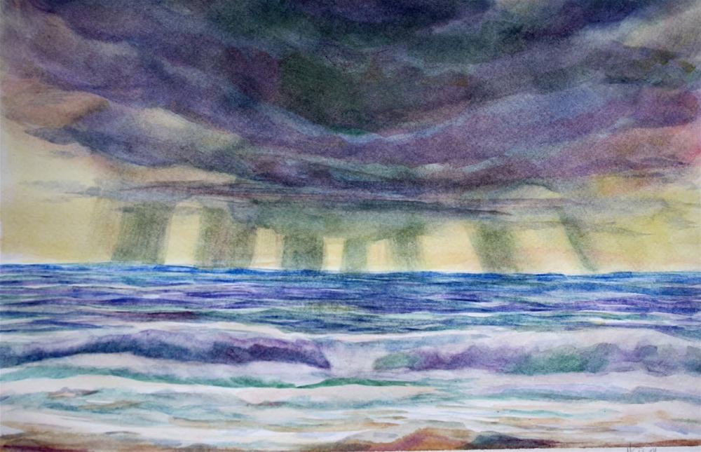 """""""Excitement"""" original fine art by Maggie Flatley"""