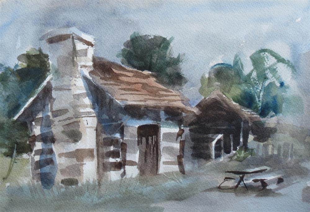"""Gray-Campbell Farmstead, Springfield, MO"" original fine art by Dann Morris"