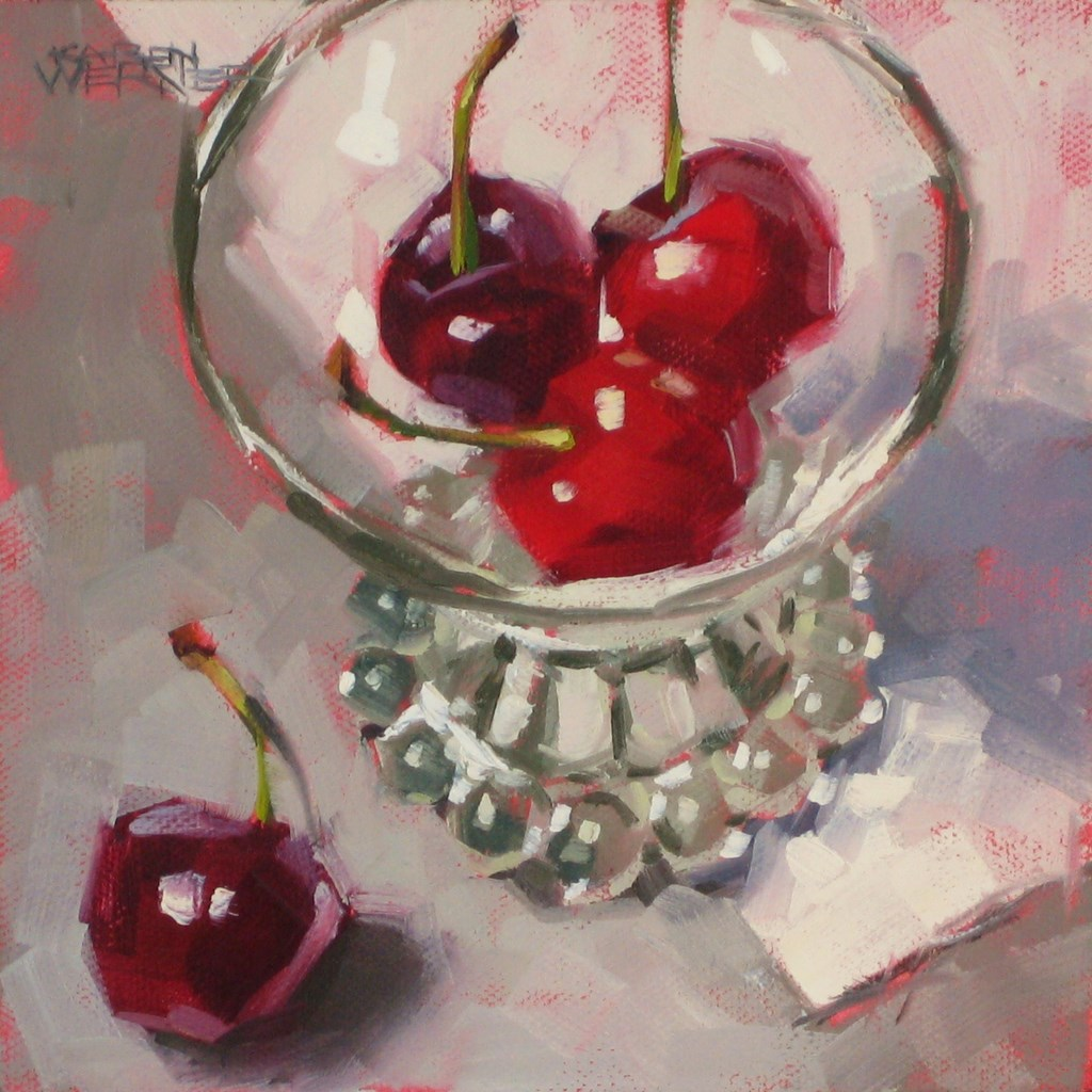"""""""Three Plus One"""" original fine art by Karen Werner"""