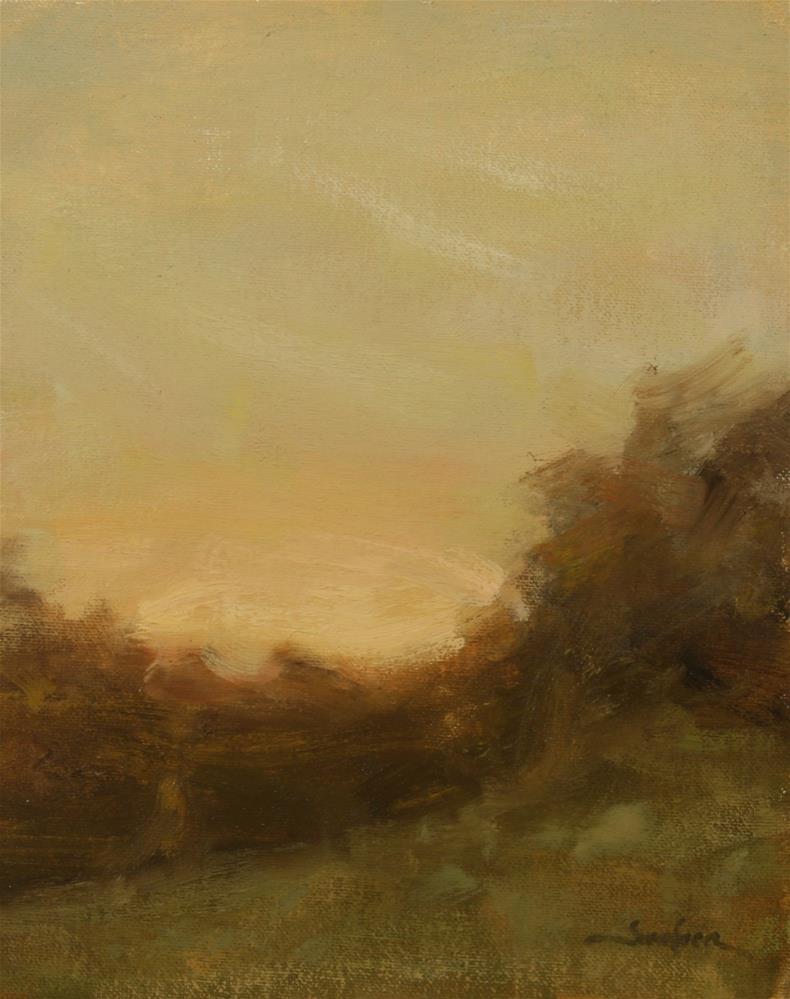 """Sunset Field Study"" original fine art by Scott Serafica"