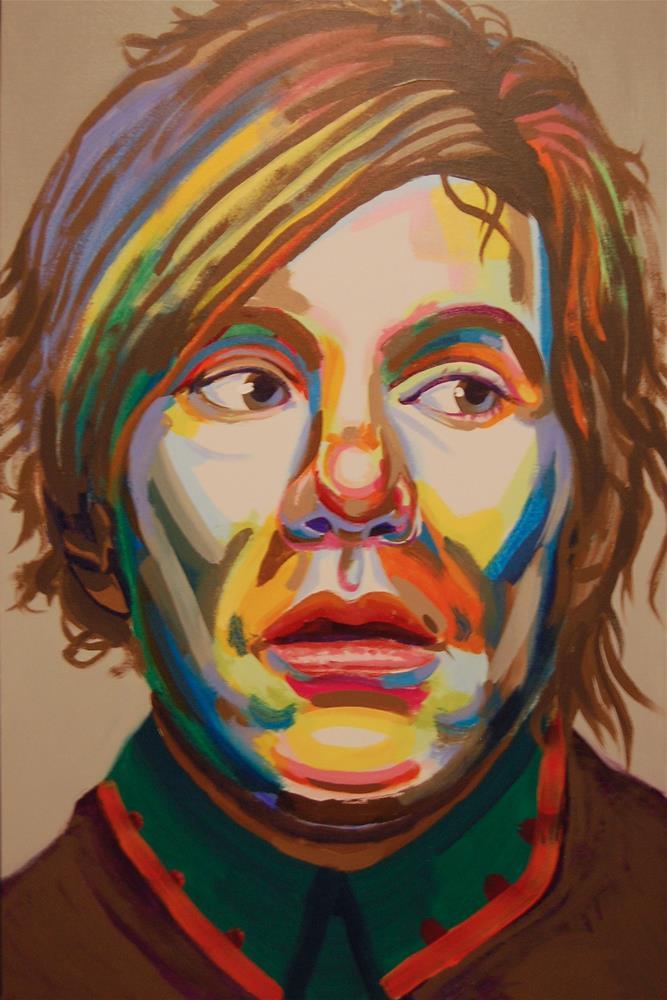 """Andy Warhol (colour contact 9)"" original fine art by michael vigneux"