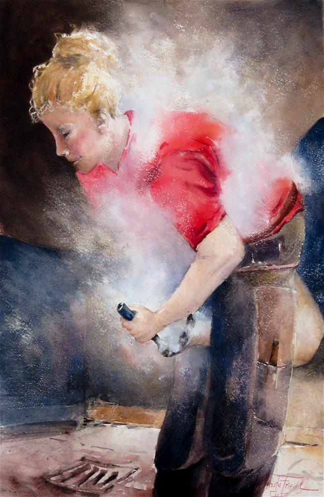 """Blacksmith"" original fine art by Christa Friedl"