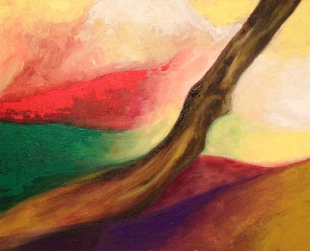 """Comtemplating (2)"" original fine art by Monica Pinotti"