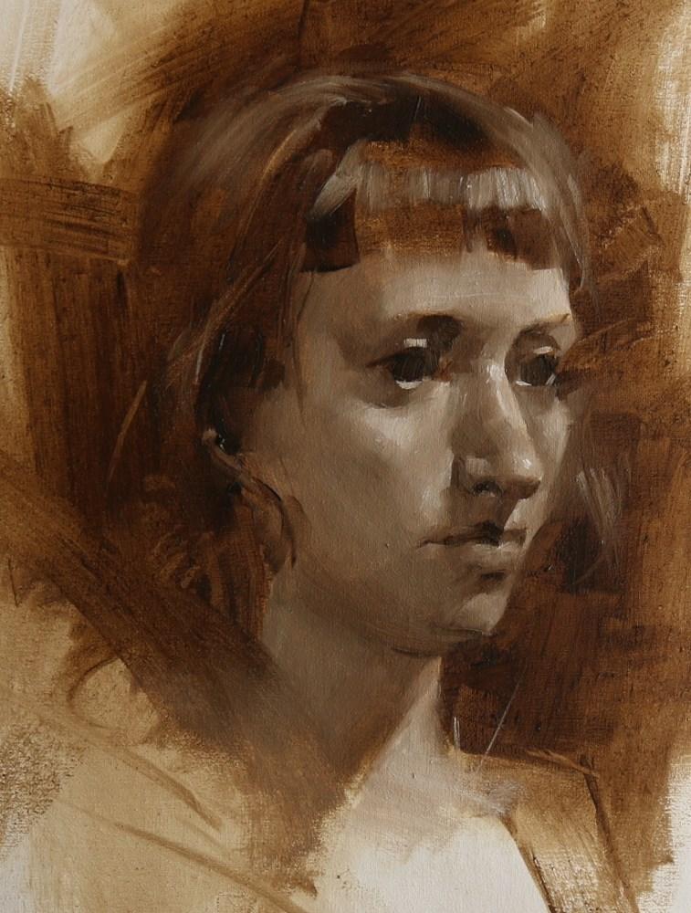 """""Head Study 052715"" original fine art by Qiang Huang"