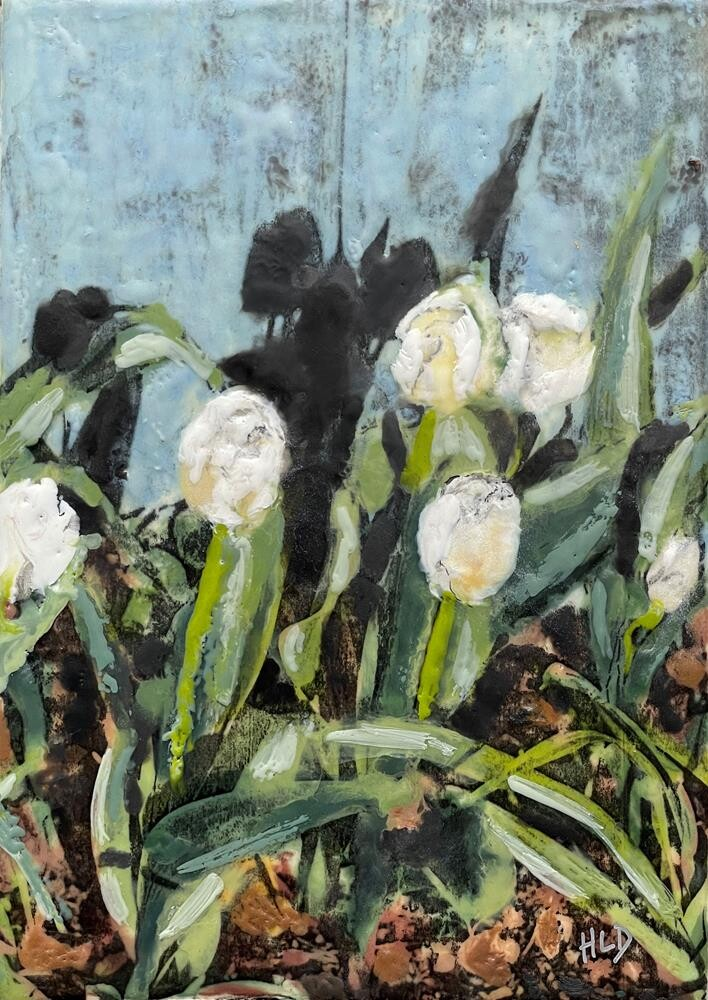"""May Tulips"" original fine art by Heather Douglas"