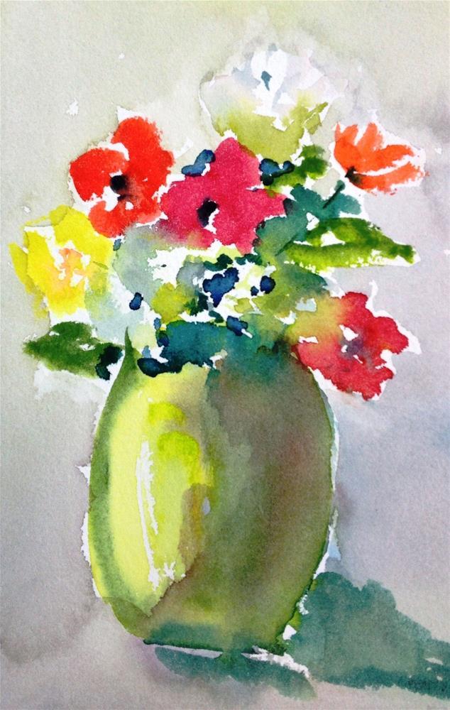 """my small flowers"" original fine art by Lisa Fu"