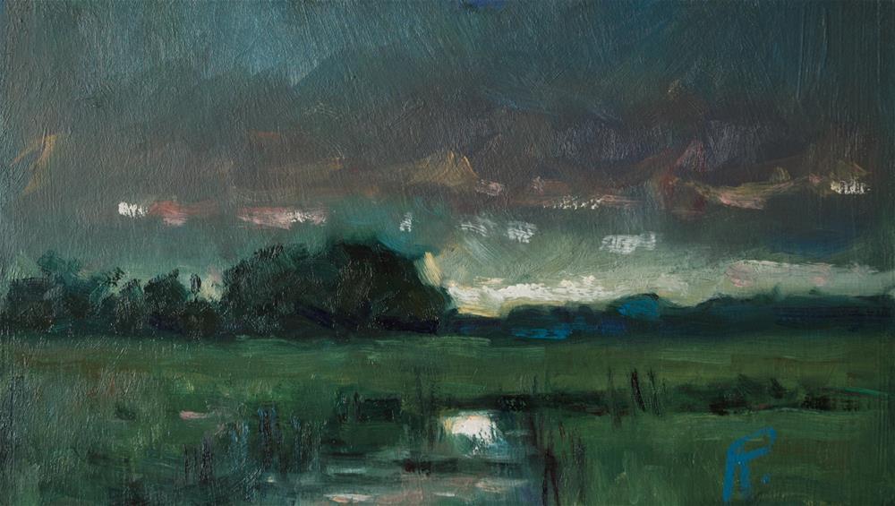 """Landscape with Creek"" original fine art by Andre Pallat"