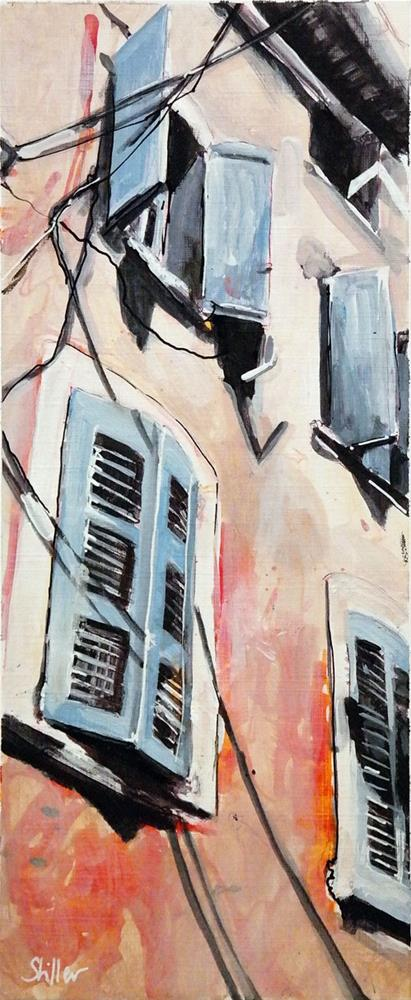 """""""2625 Window Fronts"""" original fine art by Dietmar Stiller"""