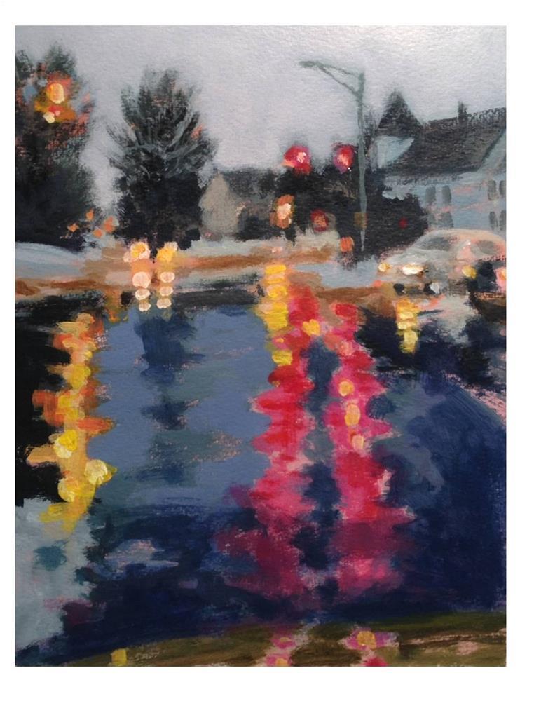 """Rainy Winter Day"" original fine art by Suzanne Woodward"