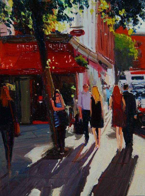 """Urban Shadow Highlights IX"" original fine art by Adebanji Alade"