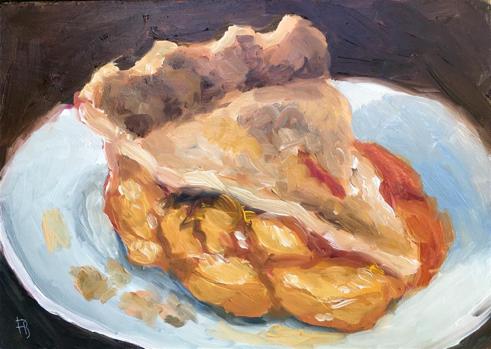 """055 Peach Pie"" original fine art by Fred Bell"
