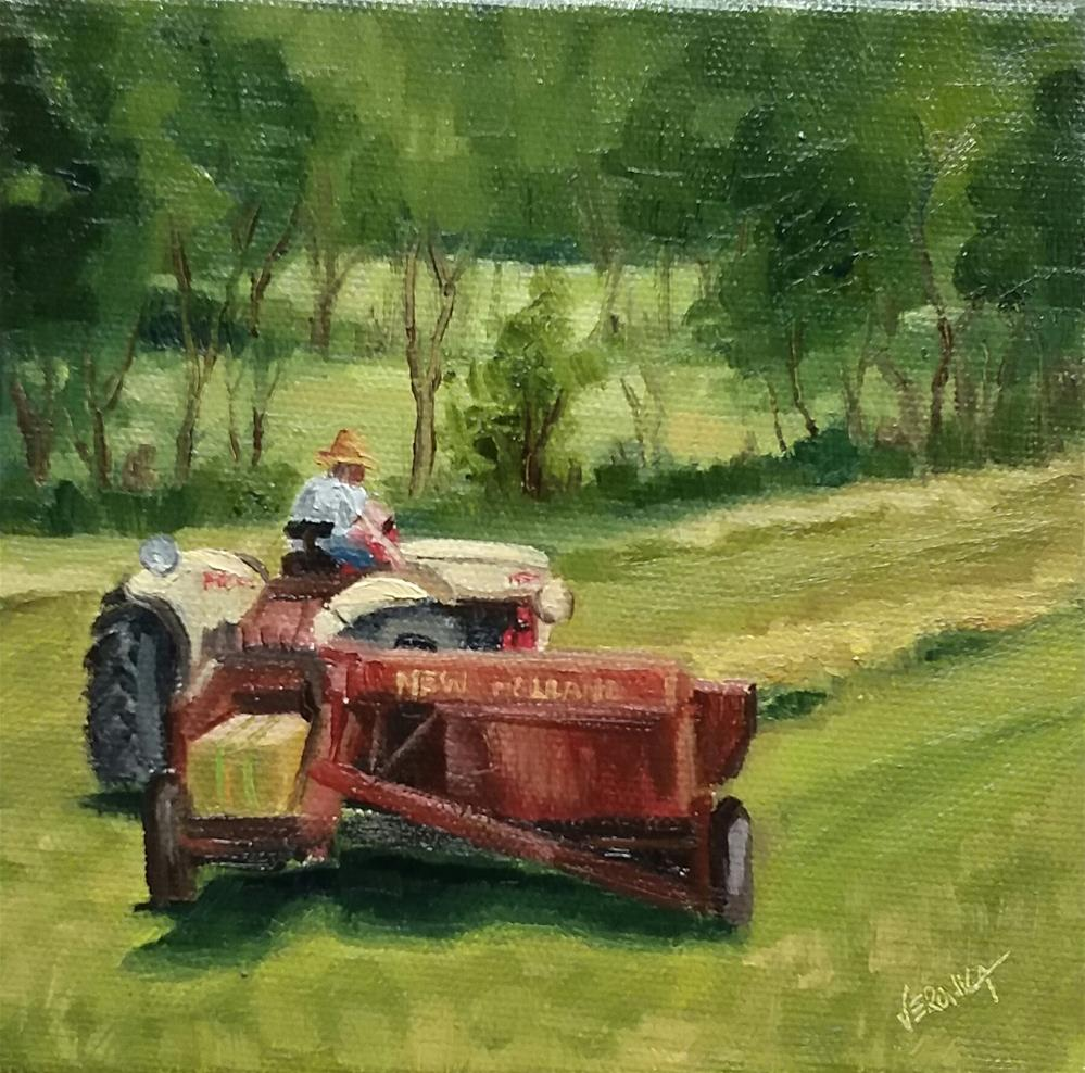 """Hay time"" original fine art by Veronica Brown"