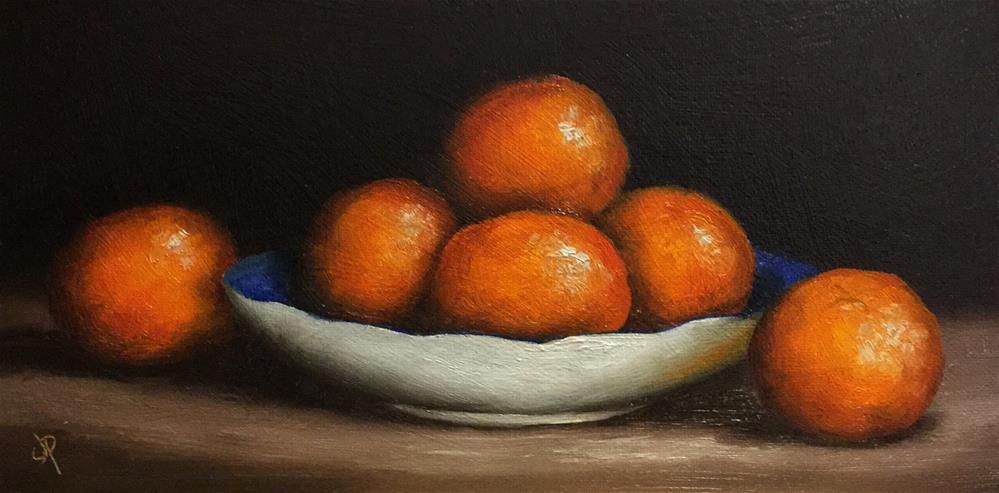 """""""Clementine dish"""" original fine art by Jane Palmer"""