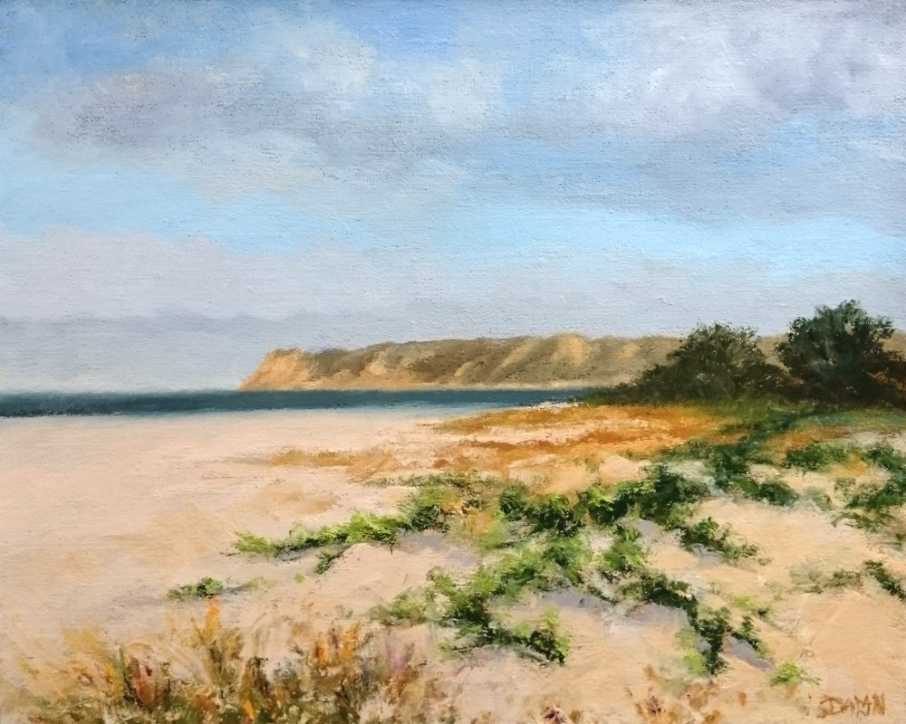 """Point Loma From Coronado"" original fine art by Dalan Wells"