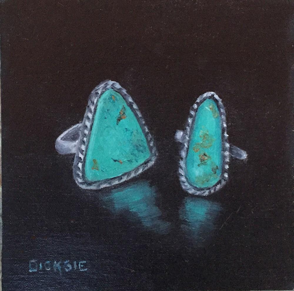 """""""Turquoise Rings"""" original fine art by Dicksie McDaniel"""
