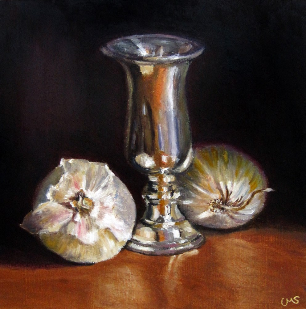 """Silver and Onions"" original fine art by Ulrike Miesen-Schuermann"