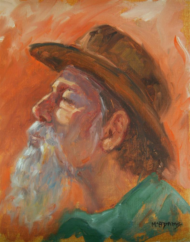 """Portrait profile."" original fine art by Phyllis McAdams"