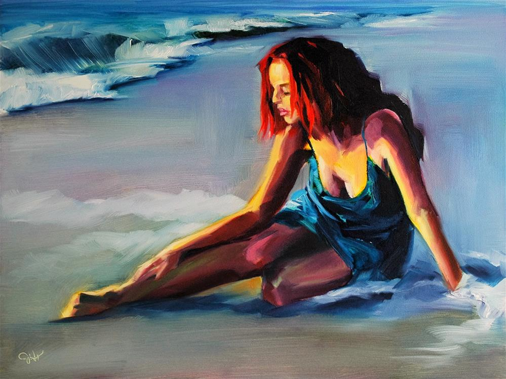 """Castaway"" original fine art by Janette Harter"