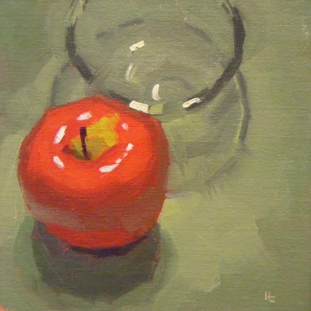 """BEST APPLE"" original fine art by Helen Cooper"