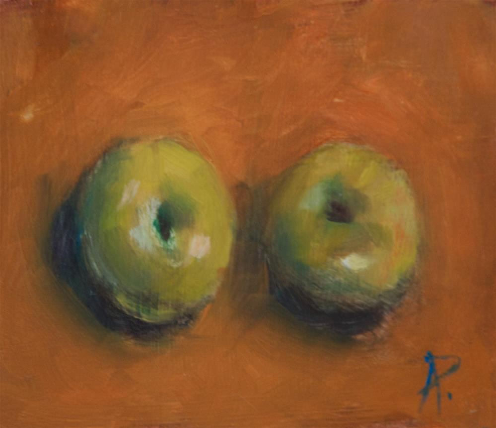 """""""Two Plums"""" original fine art by Andre Pallat"""