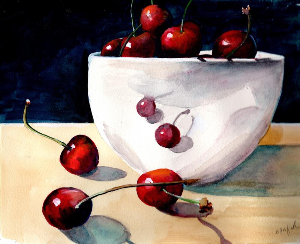 """""""Life is Just a Bowl of Cherries"""" original fine art by Bunny Griffeth"""