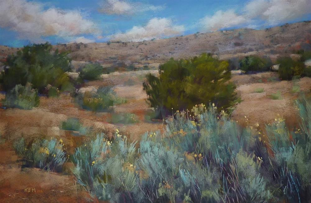 """Painting on a Road Trip...Follow Along with Me!"" original fine art by Karen Margulis"