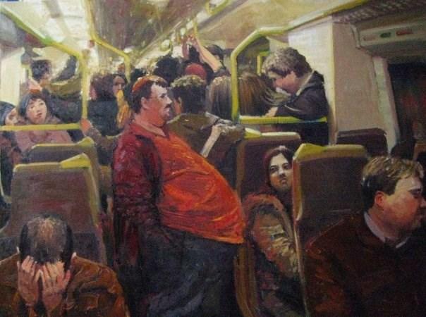 """Internal Congestion II"" original fine art by Adebanji Alade"