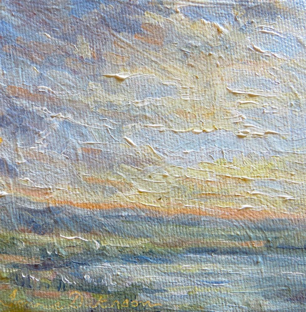 """""""Clouds Over the Water"""" original fine art by Tammie Dickerson"""