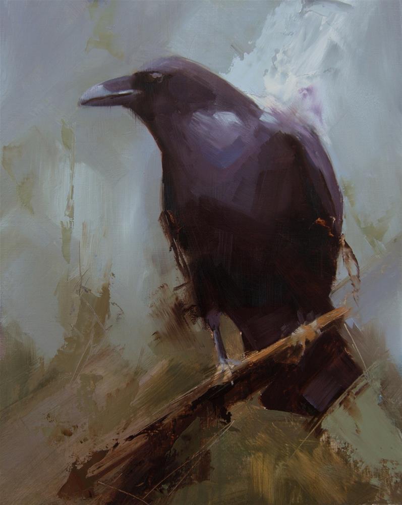 """Raven 4"" original fine art by Thorgrimur Andri Einarsson"