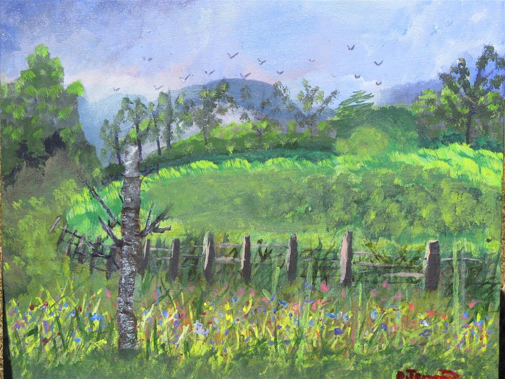 """An English countryside"" original fine art by Cindy Jensen"