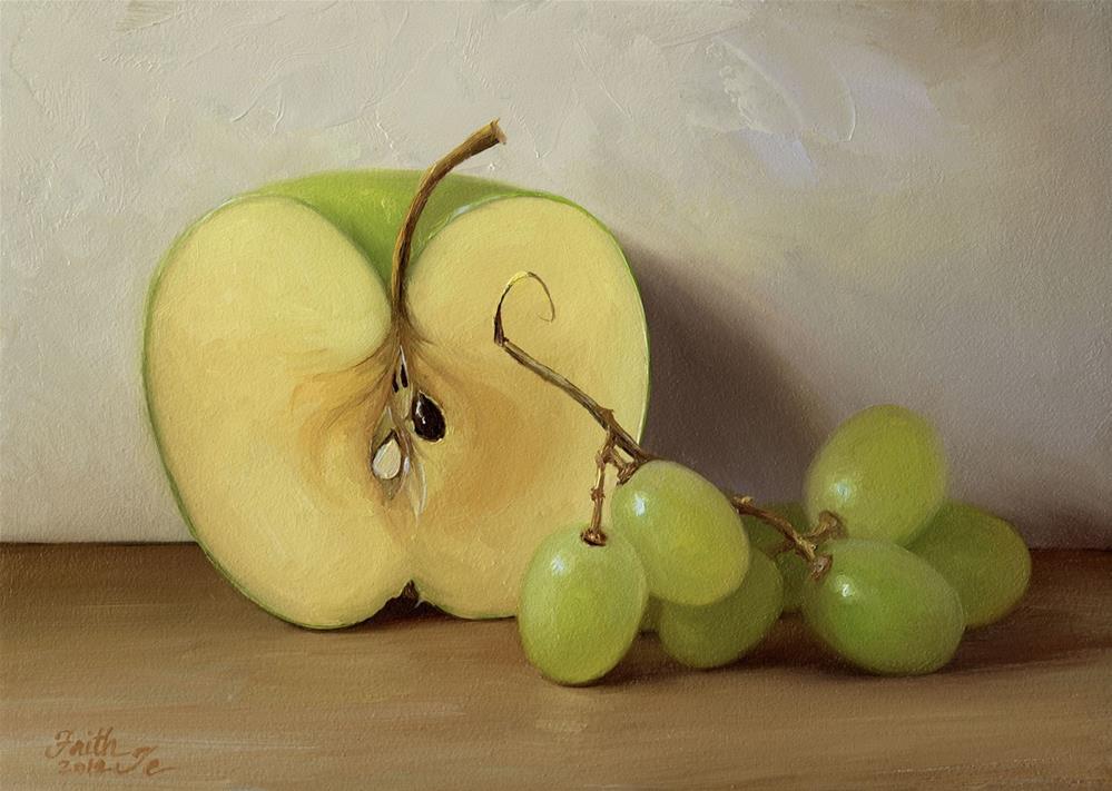 """""""Green Fruits"""" original fine art by Faith Te"""