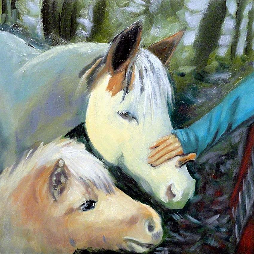 """""""Pet Me, Too"""" original fine art by Cietha Wilson"""