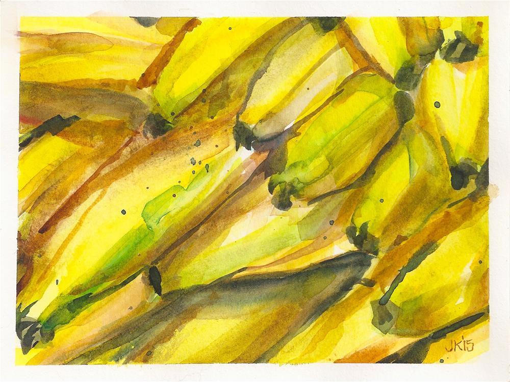 """Bananas"" original fine art by Jean Krueger"