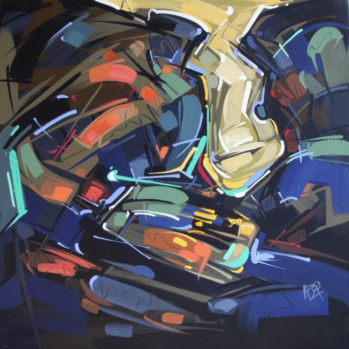 """""""Shapes & Movement 34"""" original fine art by Roger Akesson"""