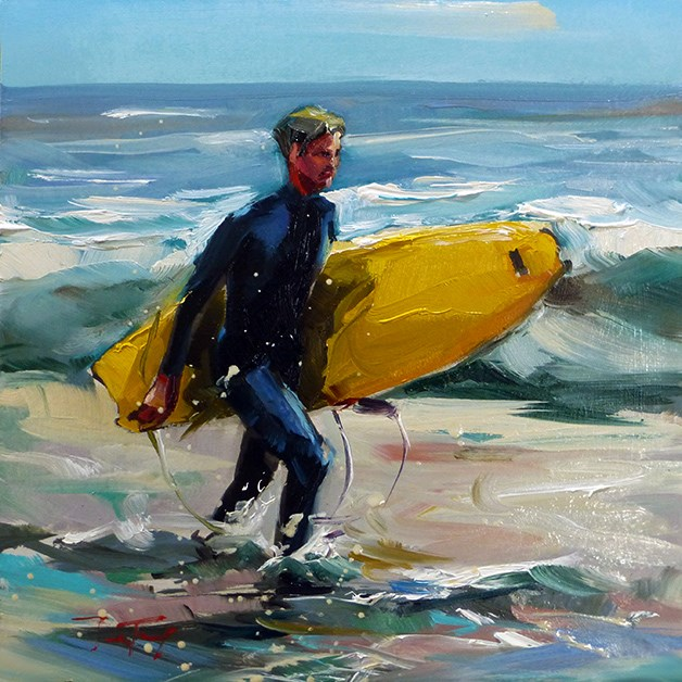 """Surfer"" original fine art by Jurij Frey"