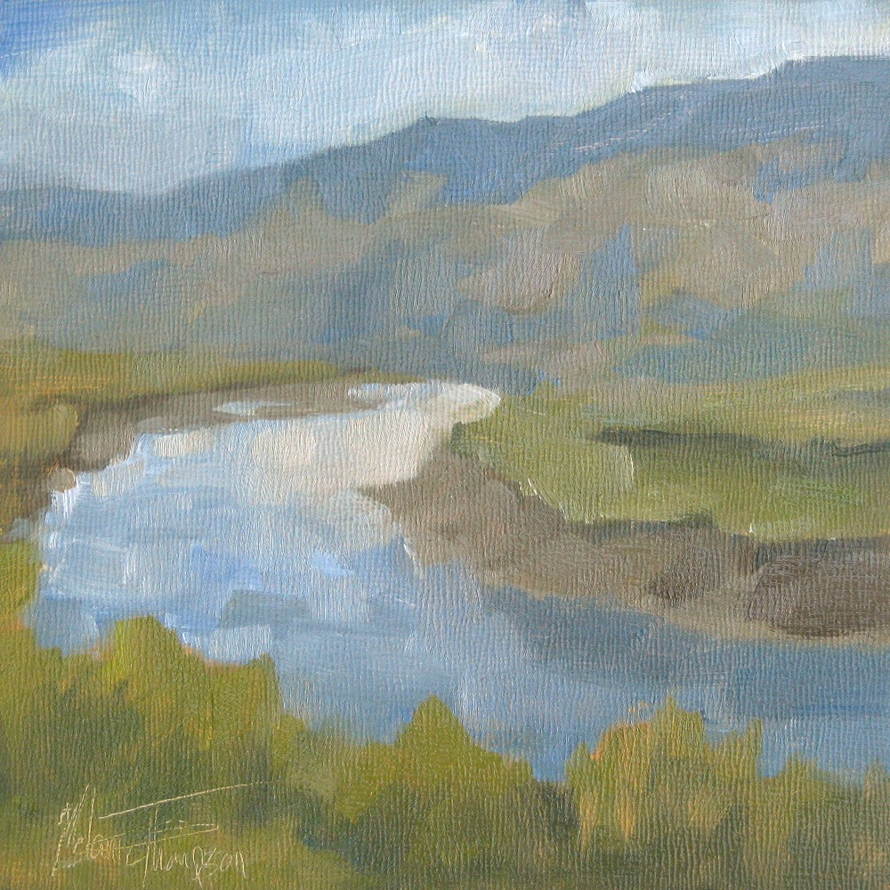 """Thompson River View II"" original fine art by Melanie Thompson"