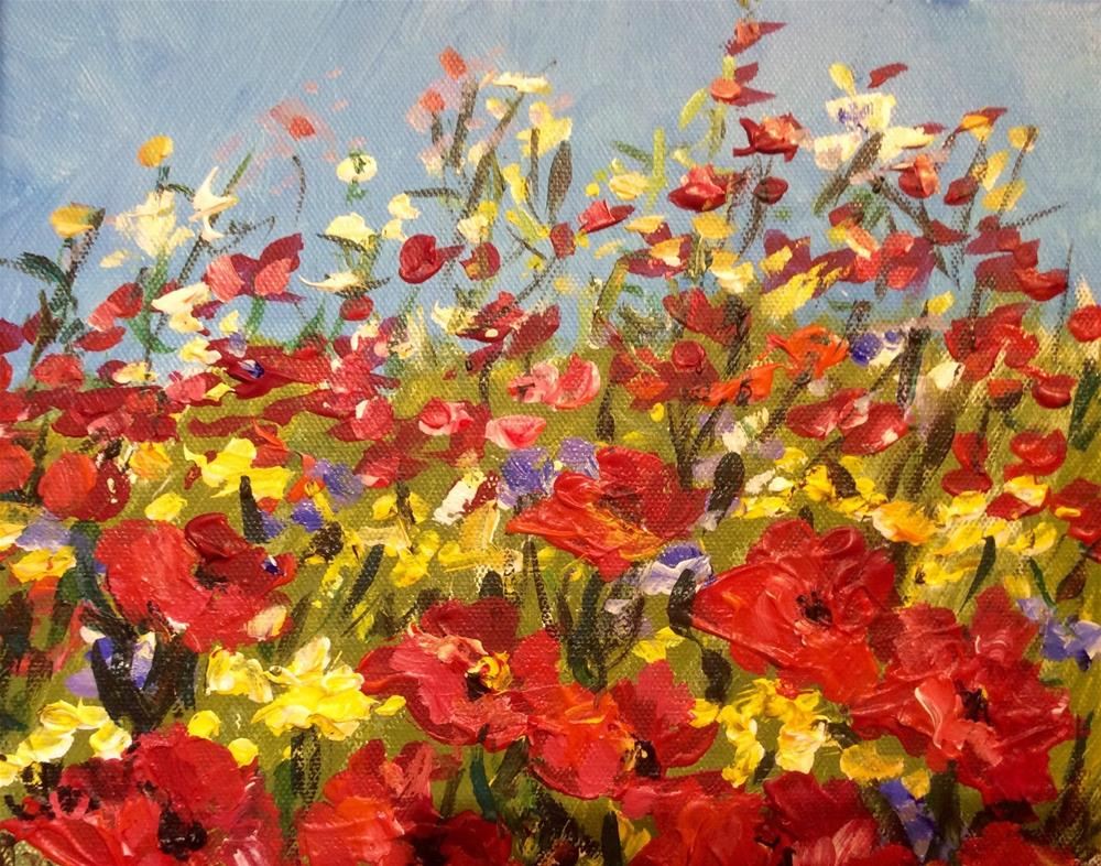 """Wild Poppies"" original fine art by Sonia von Walter"