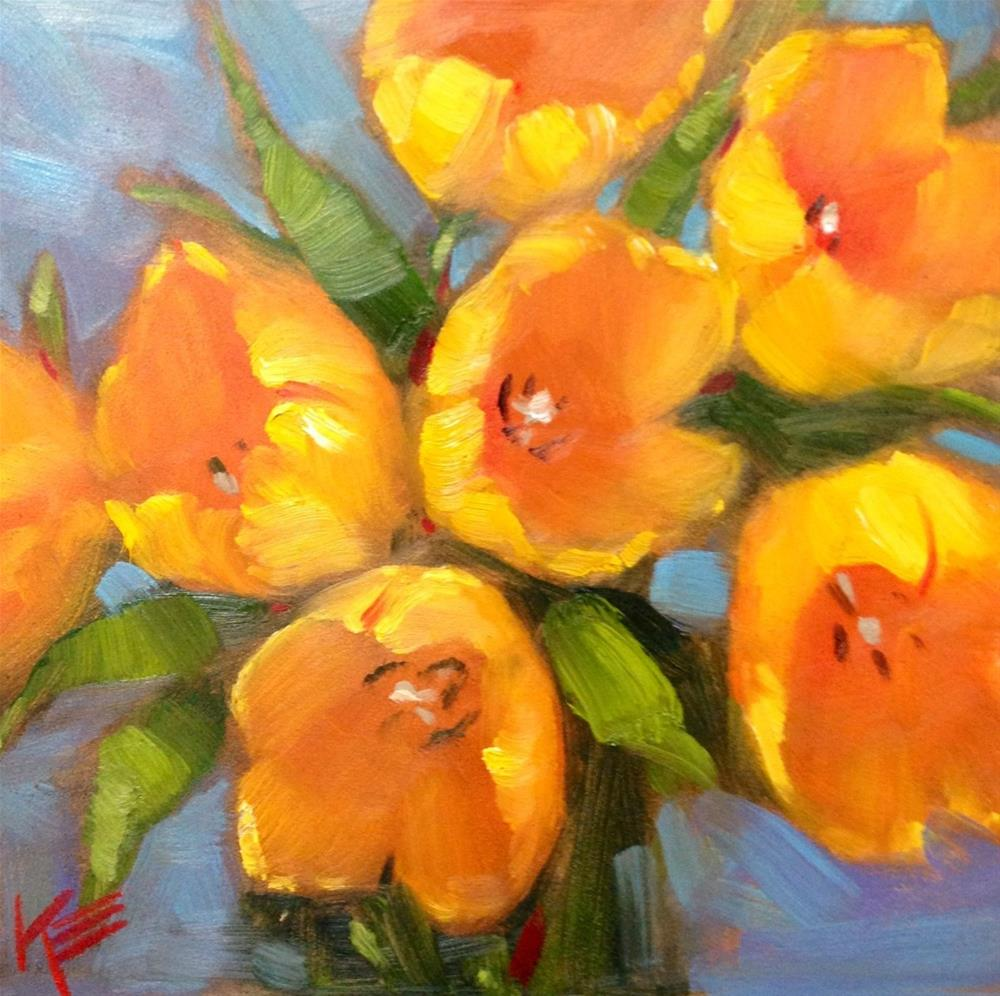 """Hello Yellow"" original fine art by Krista Eaton"
