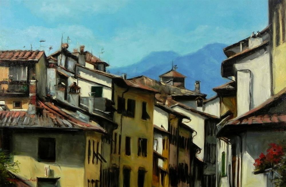 """Facades in Lucca"" original fine art by Jonelle Summerfield"